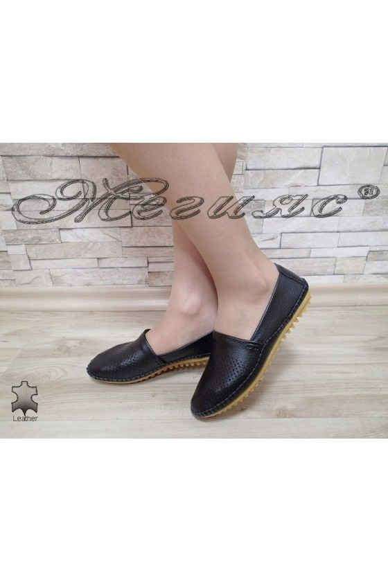 Lady shoes S1720-263 black leather
