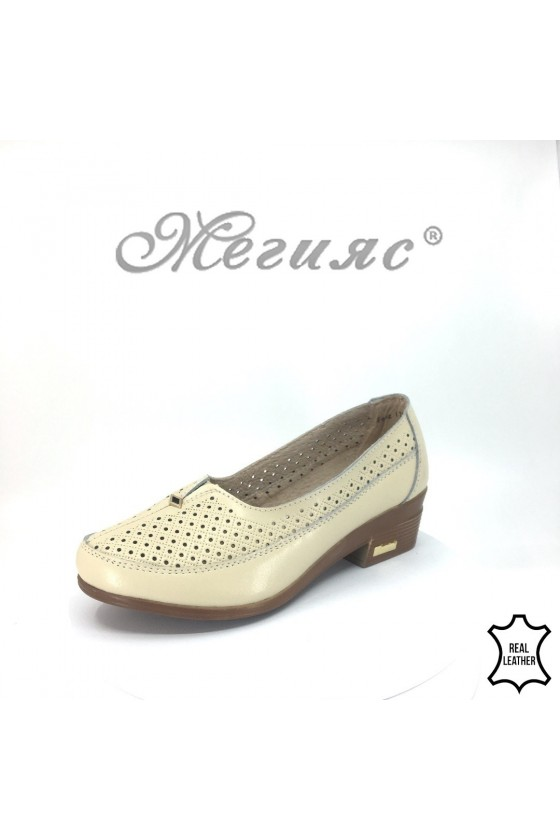 Lady shoes FENG 18s-20-220/1720-267 beige leather