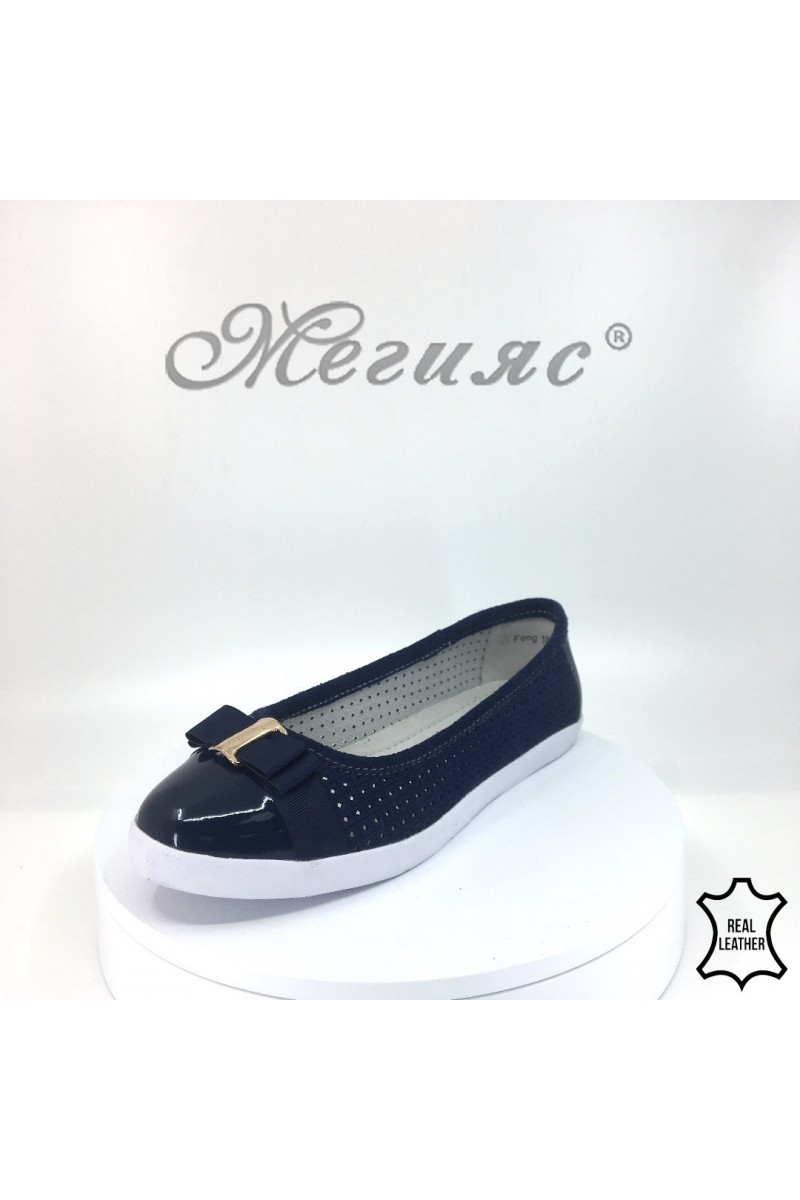 Lady shoes 18s20-261 navy leather