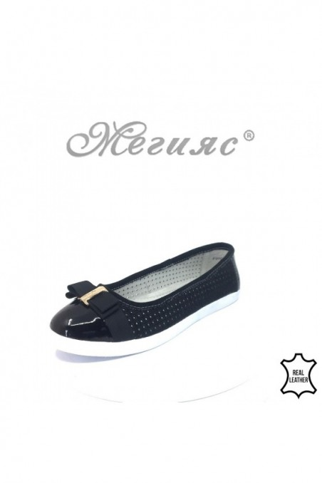 Lady shoes 18s20-261 black leather