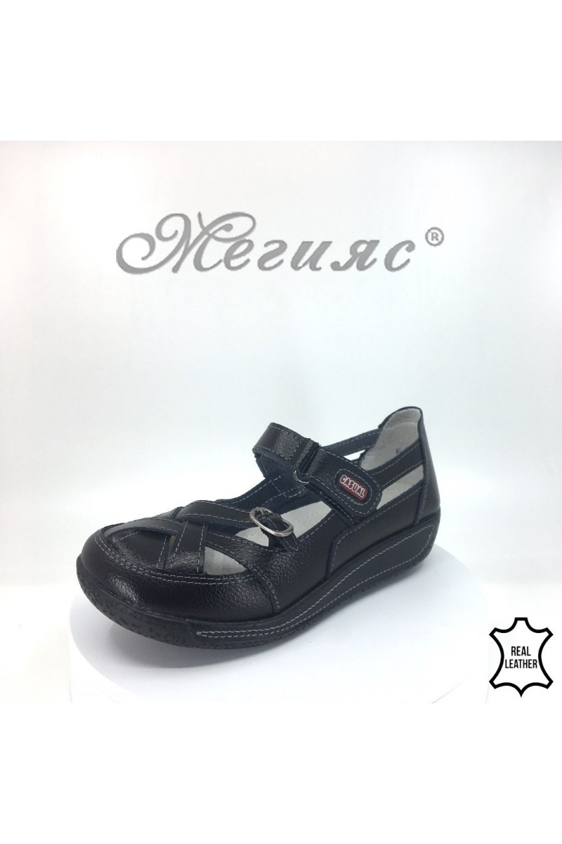 Lady shoes 18s-20-253 black leather