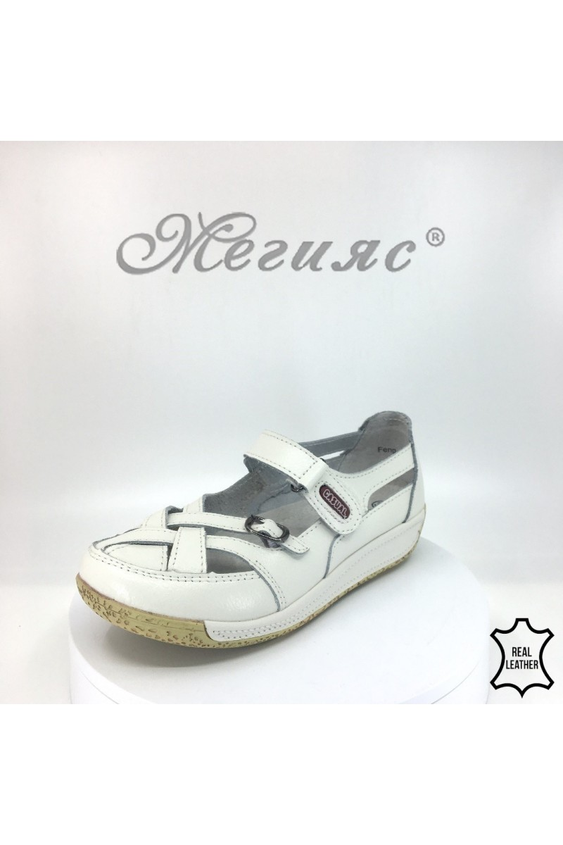 Lady shoes 18s-20-253 white leather