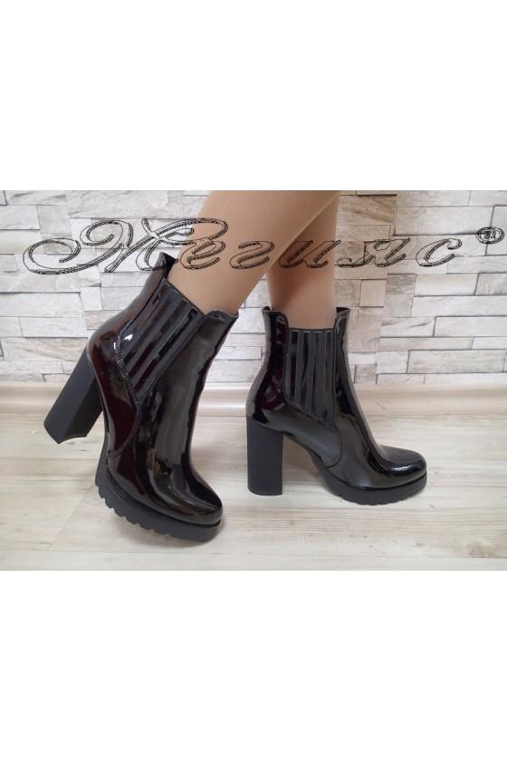Lady boots SUN 20W17-18  black patent