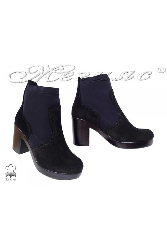 Lady boots 1710 black suede...