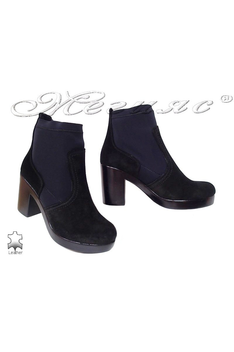 Lady boots 1710 black suede leather