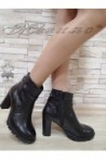 Women boots 14316 black leather