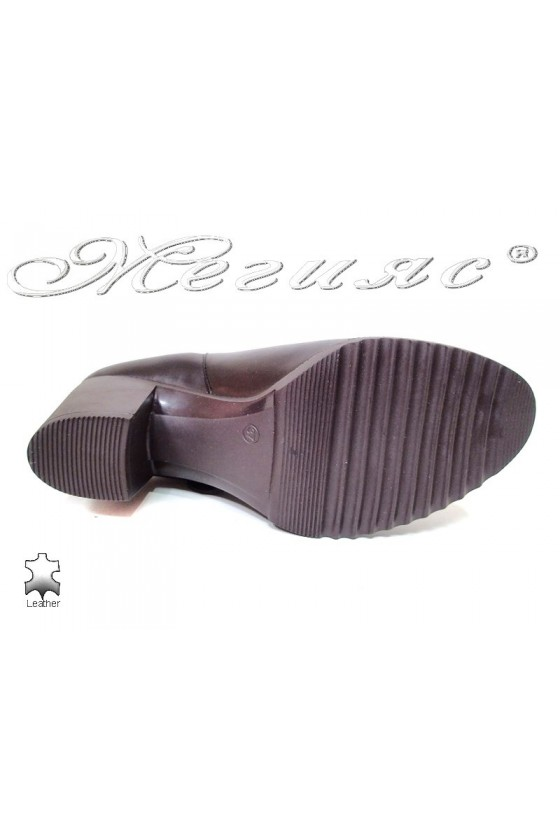 Lady boots 114-02 brown leather