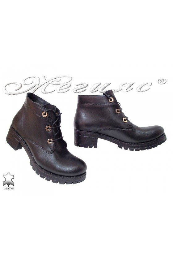 Lady boots 502 black leather