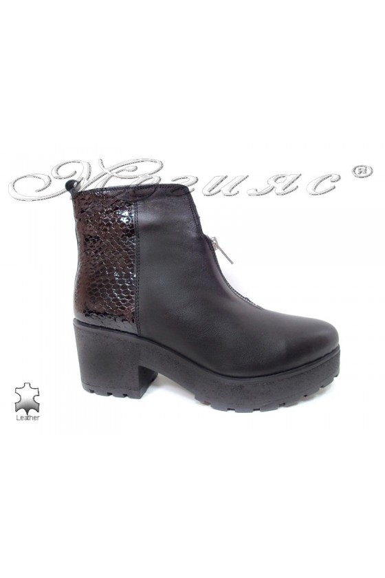 Lady boots 271-2096 black leather