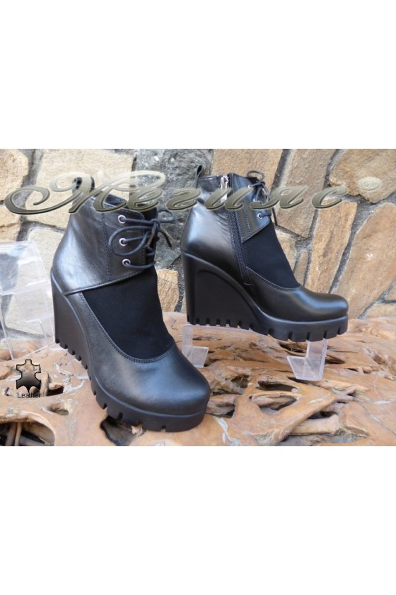 Lady boots 516-01 black leather