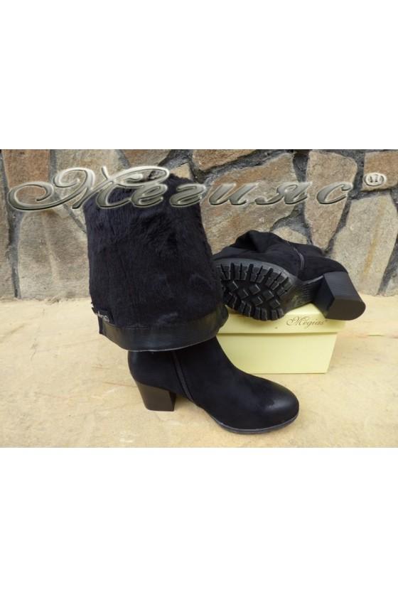 Women boots CASSIE 18-2508 black suede