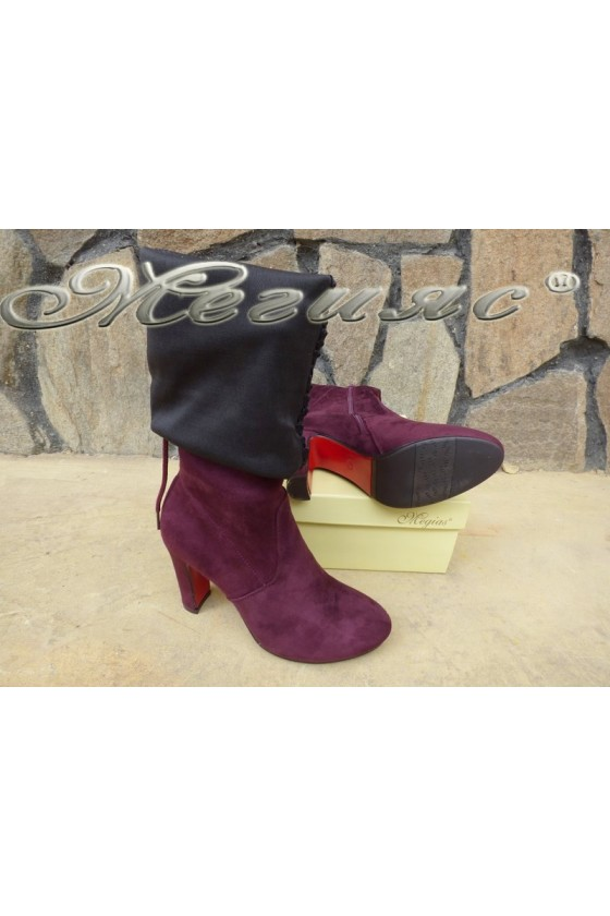 Lady boots Cassie 18-2494 bordo suede
