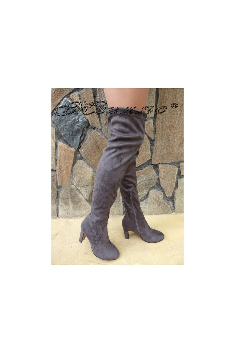 Lady boots Cassie 18-2494 grey suede