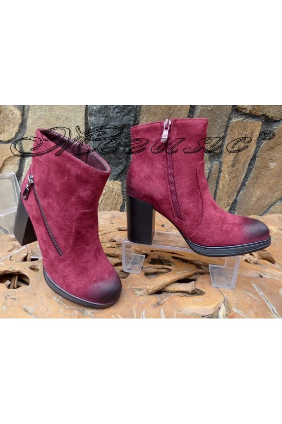 Lady boots CASSIE 18-2509 burgundy