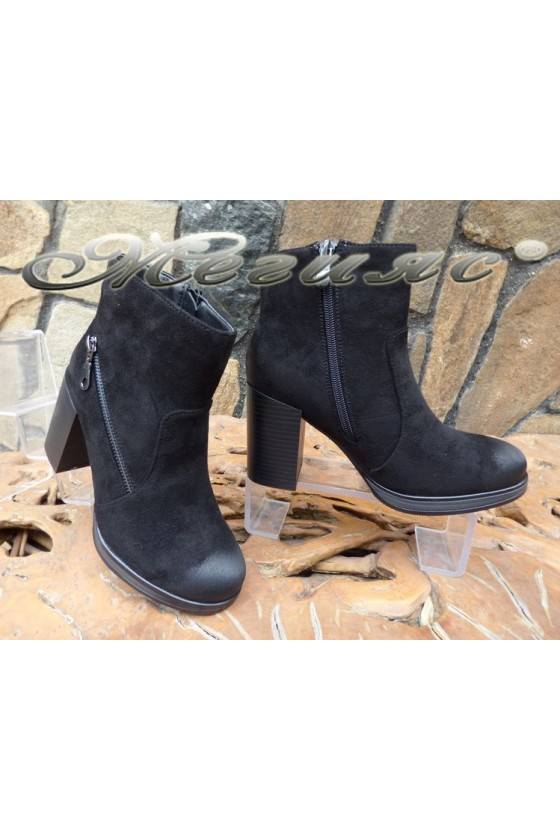 Lady boots CASSIE 18-2509 black suede