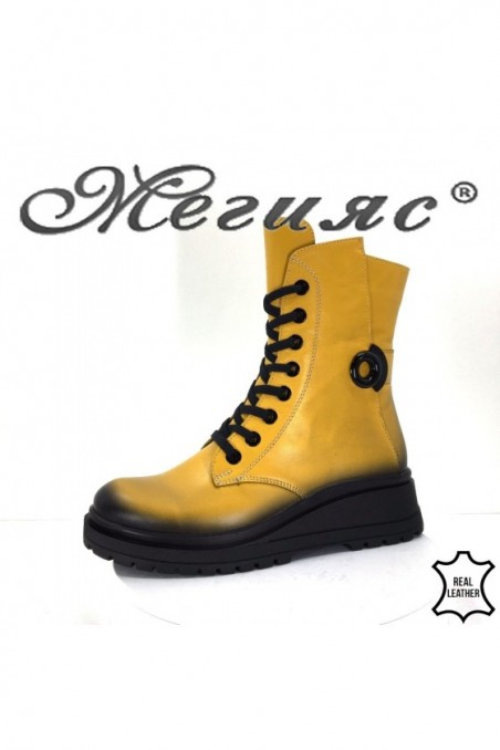 9499 Lady boots yellow leather