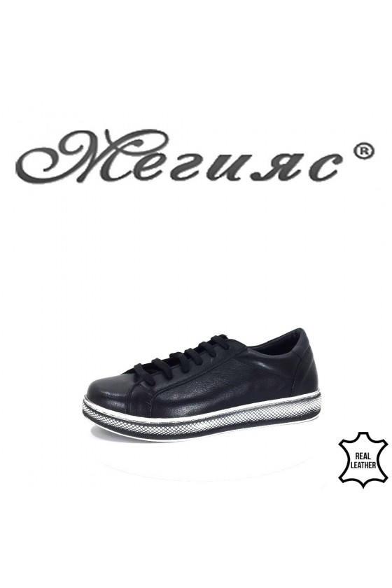 900 Women shoes black leather