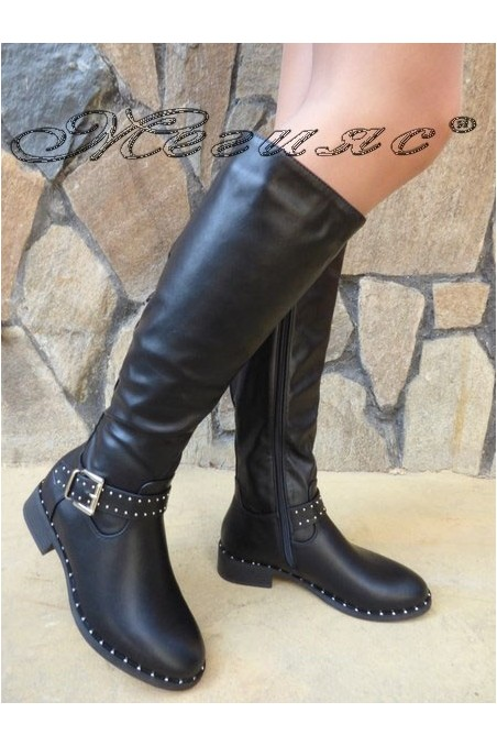 Women boots CASSIE 19-1484 black pu