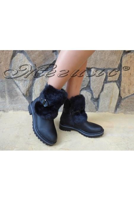 Women boots CASSIE 19-1463 black pu