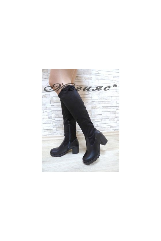 CASSIE 19-1459 Lady boots black pu