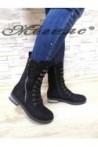Women boots CASSIE 19-1456 black suede