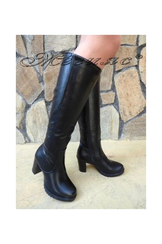Women boots CASSIE 19-1461 black pu