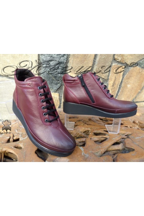 Lady boots 1019 wine leather