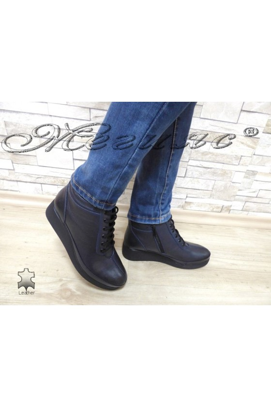 Lady boots 1019 blue leather