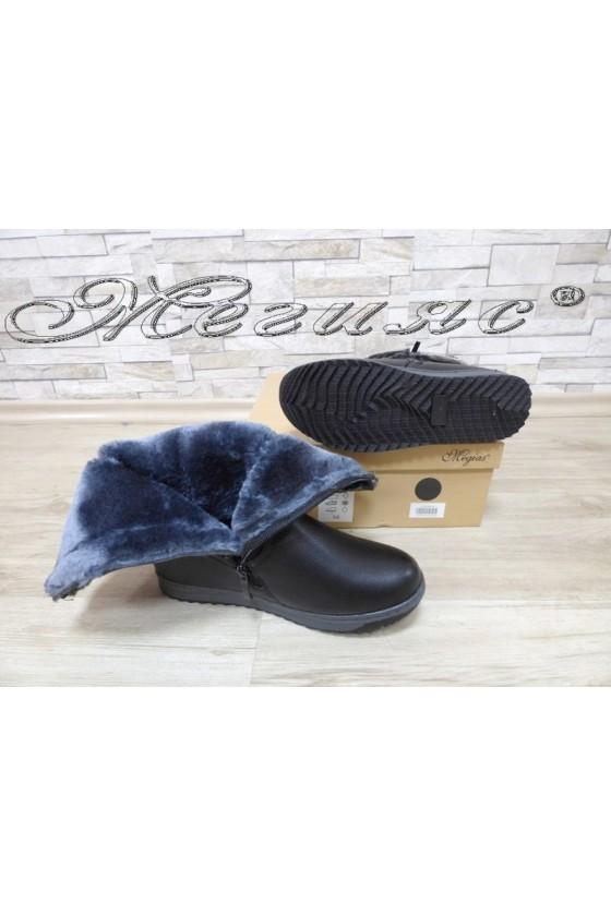 Lady boots  VENUS 18-2418 black pu