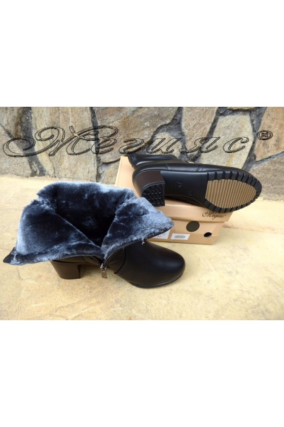 Lady  boots Venus 18-2422 black pu