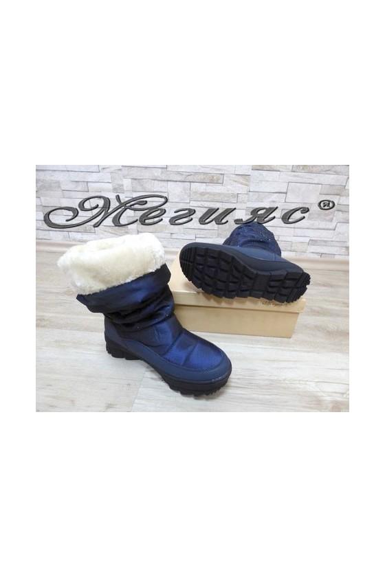 19-1321 Women boots blue