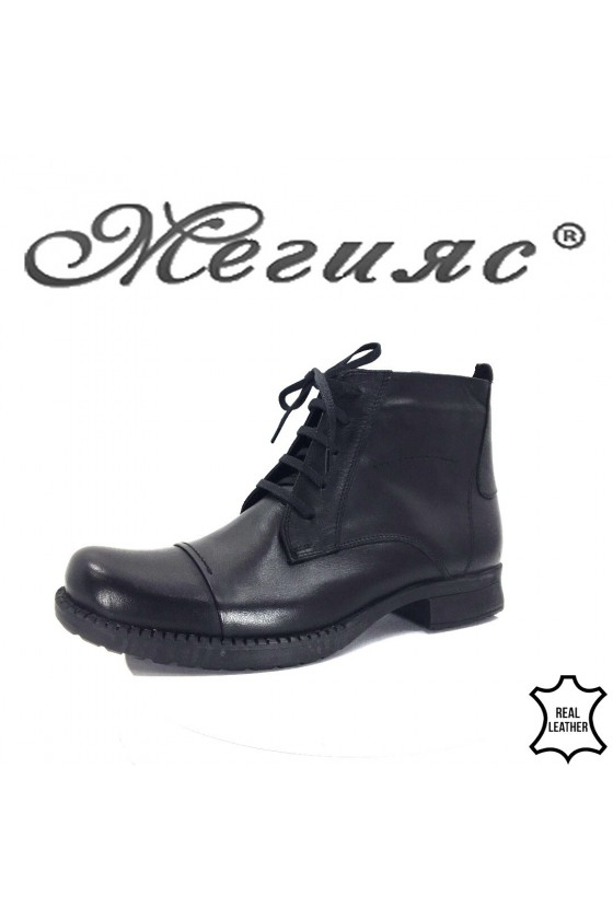 601 Men's boots black leather