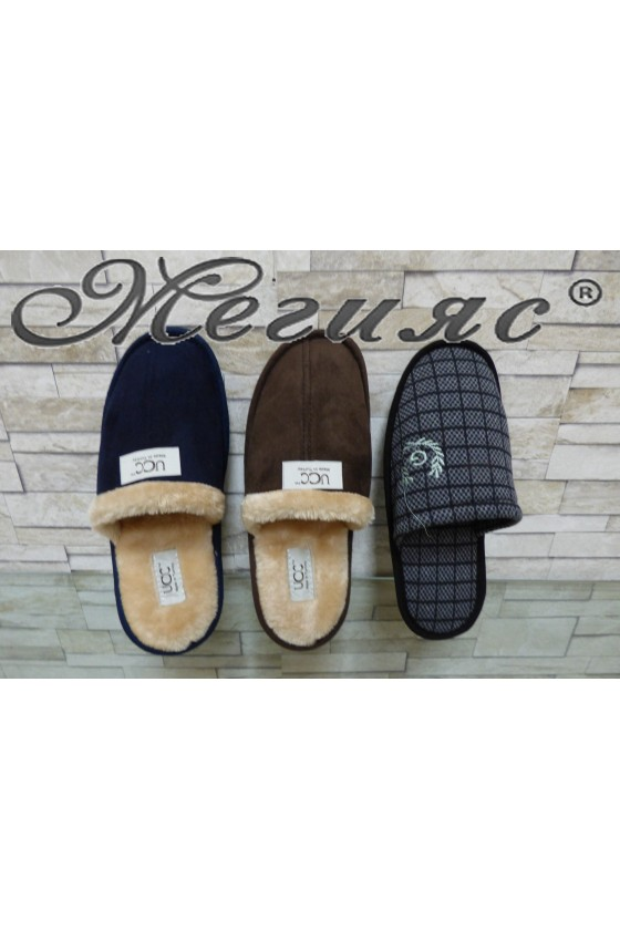 6000 Lady slippers blue,brown,grey