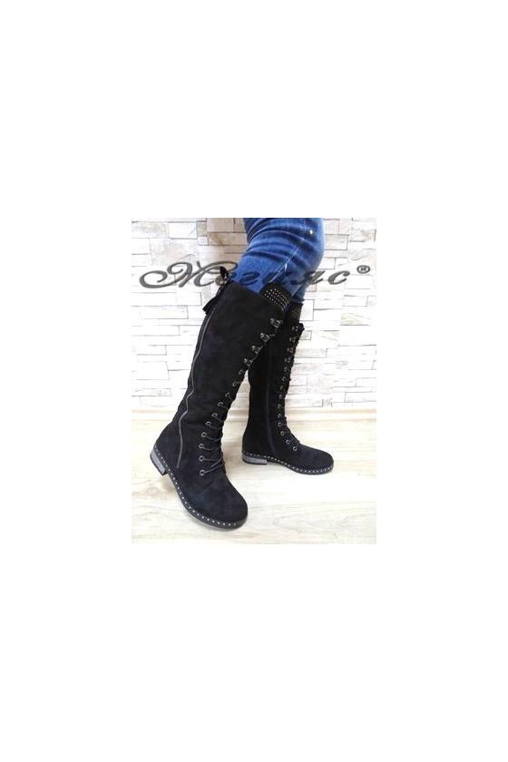 Women boots CASSIE 19-1455 black suede
