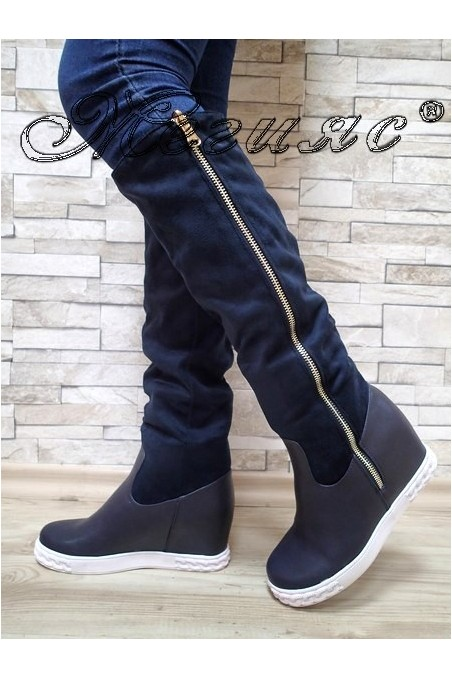 Women boots Cassie 20W17-35 blue pu