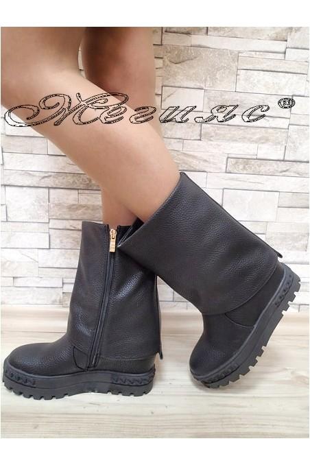 Lady boots Christine 2017-228 black pu