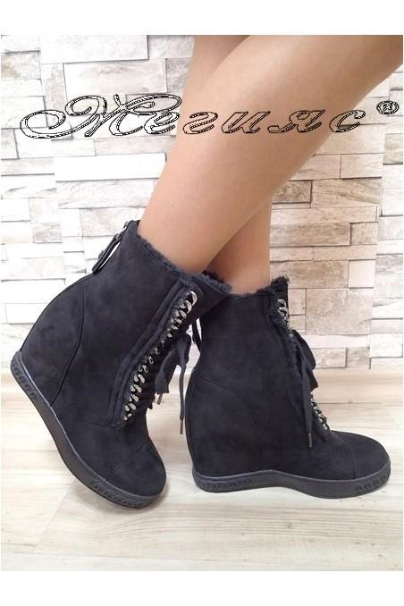 Women boots Christine 2017-226 black pu