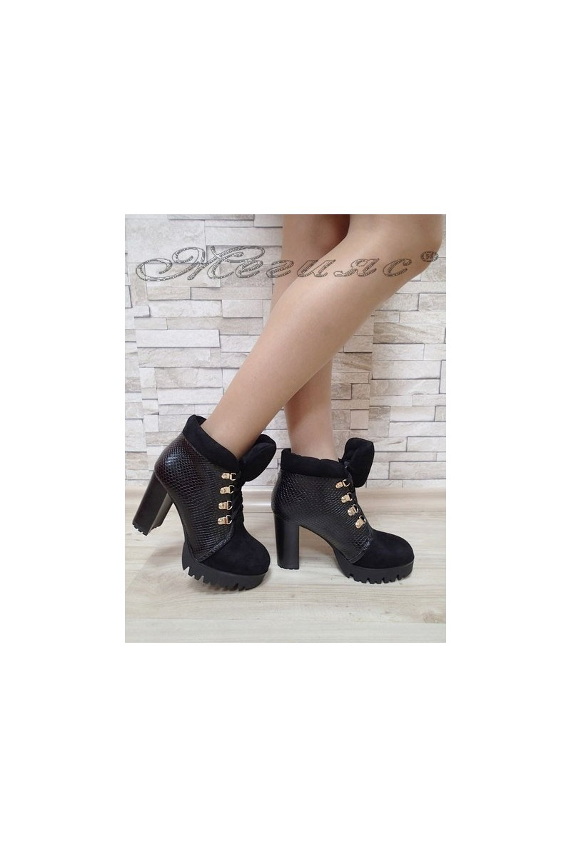 Lady elegant boots Carol 2017-145 black suede