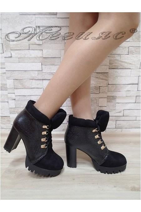 Lady elegant boots Carol 20W17-147 black suede