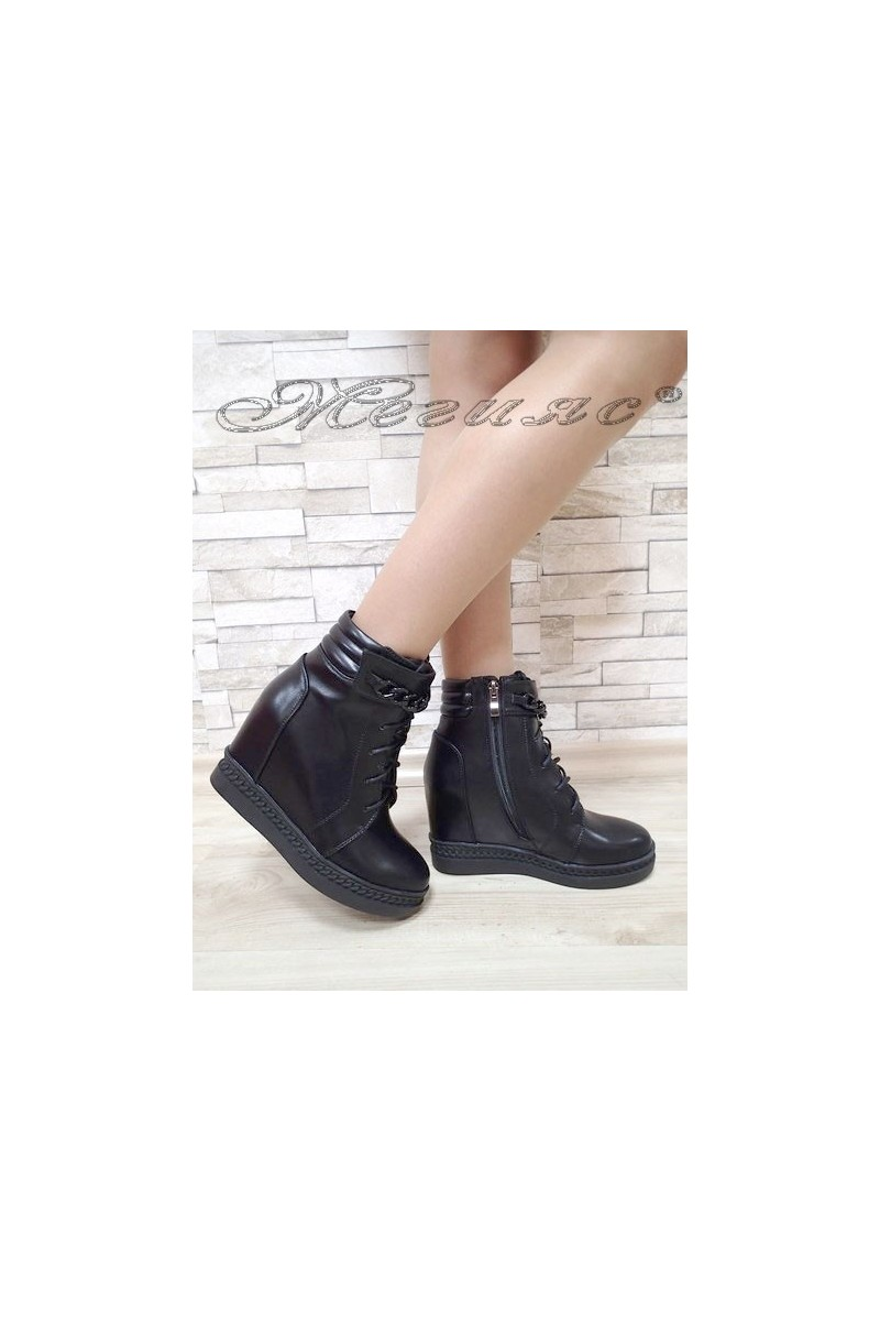 Lady boots Carol 2017-155 black pu