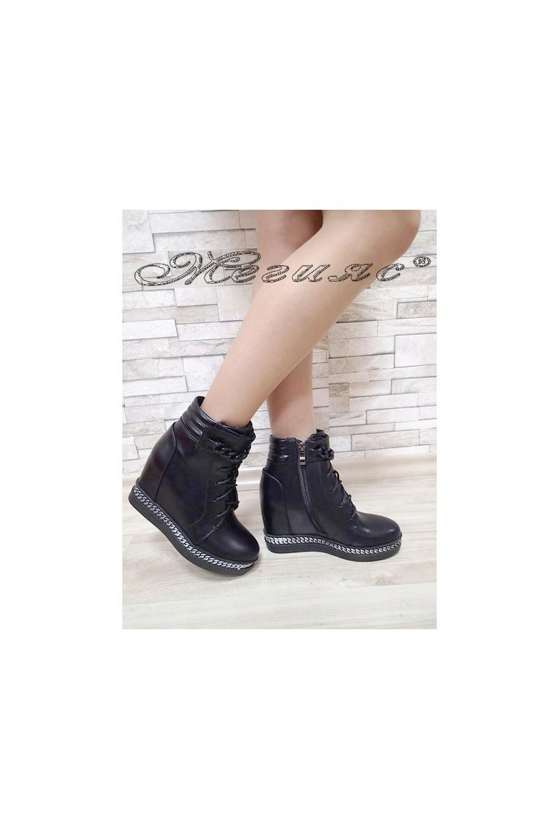 Lady boots Carol 2017-155 black pu