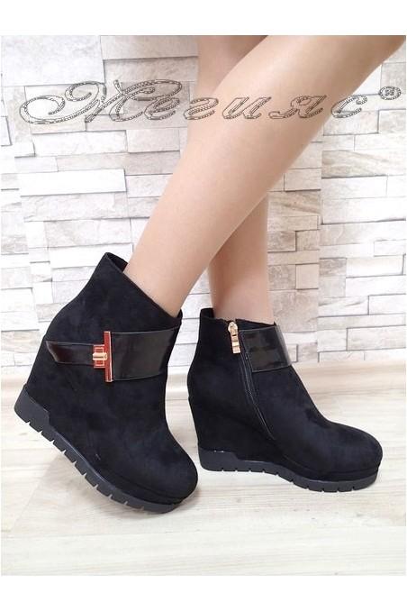 Lady boots Carol 20W17-138 black suede