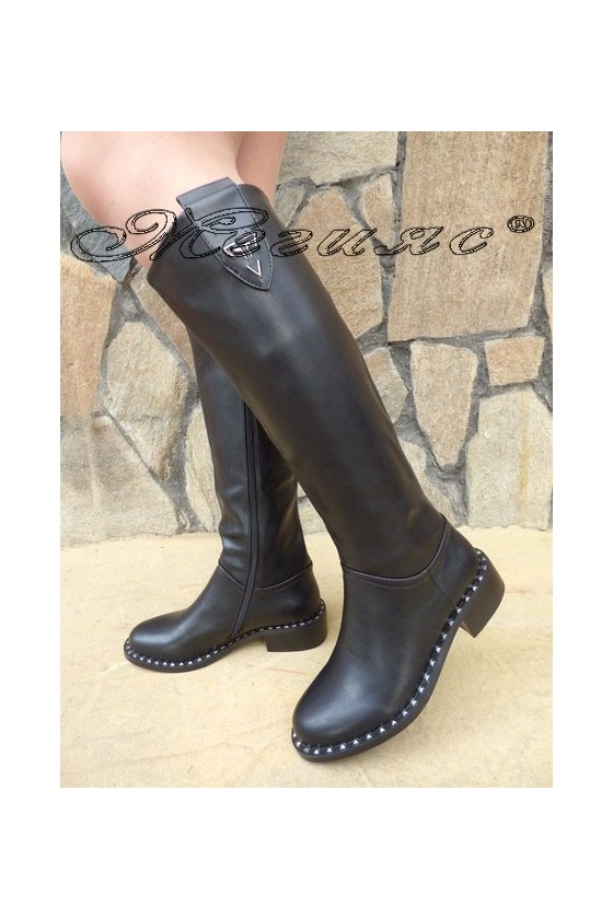 Carol 19-1083 Lady boots black pu