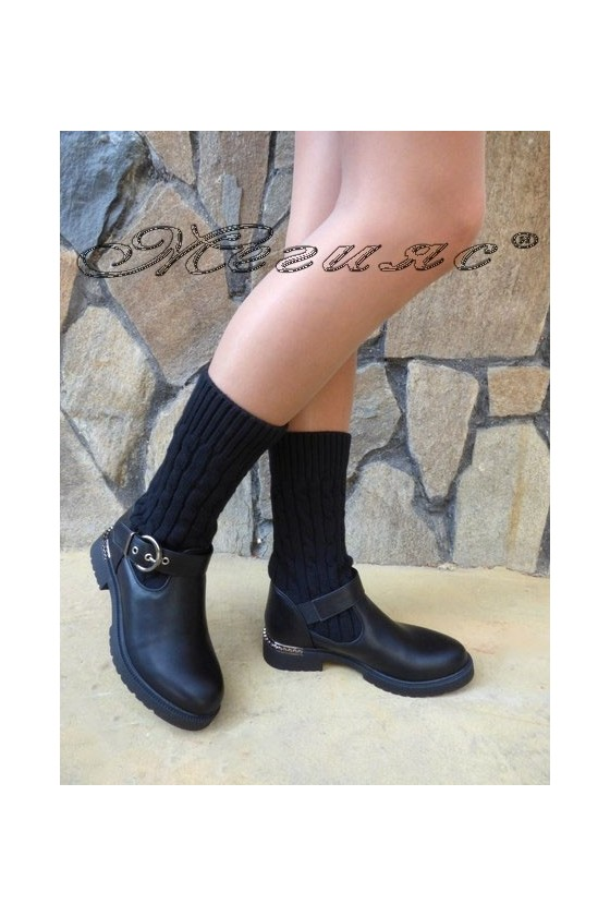 Women boots CASSIE 19-1481 black pu