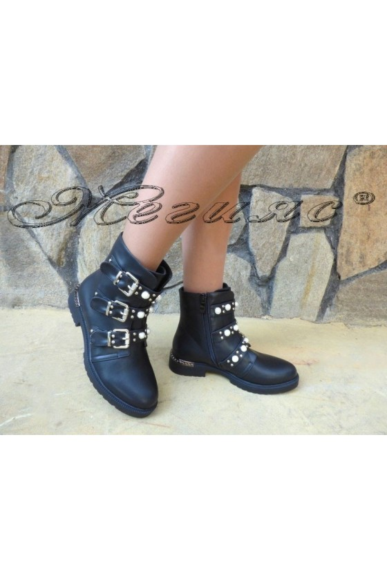 Women boots CASSIE 19-1486 black pu