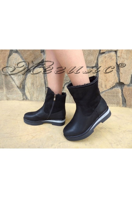 Carol 19-1067 Women boots black pu
