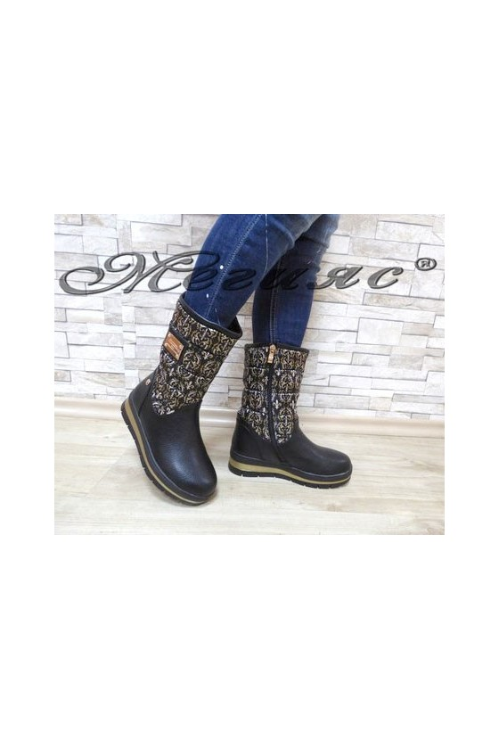 Carol 19-1063 Lady boots black pu