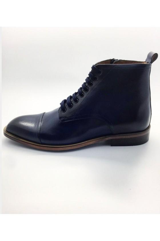 6664 Men's boots  blue leather