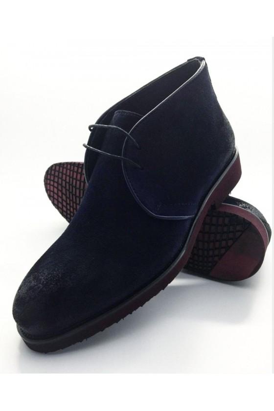 23-01 Men  boots  blue sued