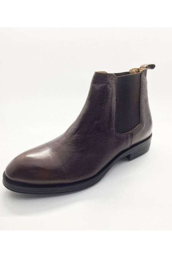 7158 Men boots  brown leather